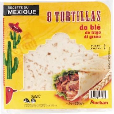 Auchan tortillas de blé 320g