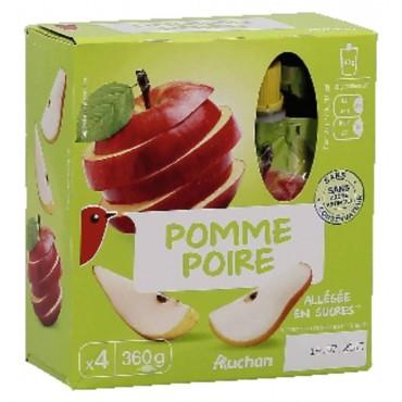 Auchan compote pomme poire...