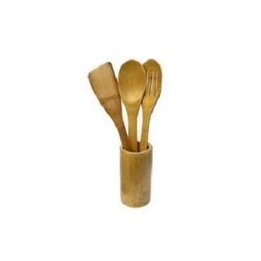 Lot de 3 spatules en bambou