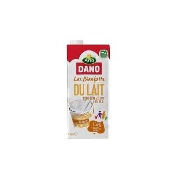 Dano lait UHT 1/2 écrémé 1l