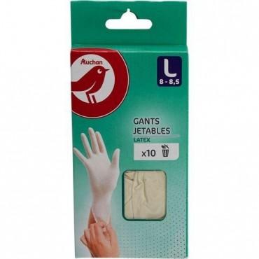 Auchan gants fin latex...