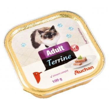 Auchan terrine pour chat à...