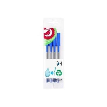 Auchan 4 stylos bille bleu