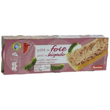 Auchan pâté de foie 3x78g