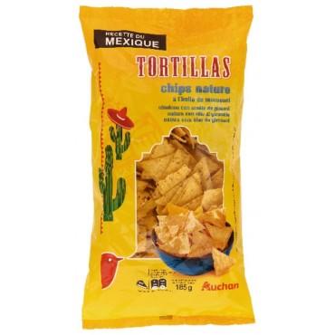 TORTILLA CHIPS NAT AUCHAN 185G