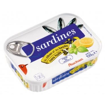 Auchan sardines au citron...