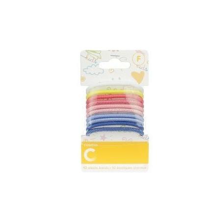 Cosmia kids élastiques cheveux large couleurs x10