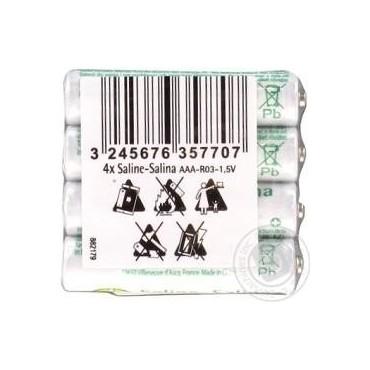 Saline batteries AAA R03 4p