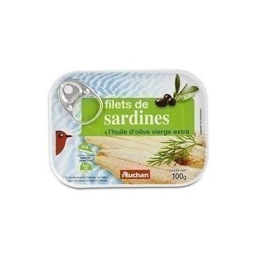 Auchan filets de sardines à...