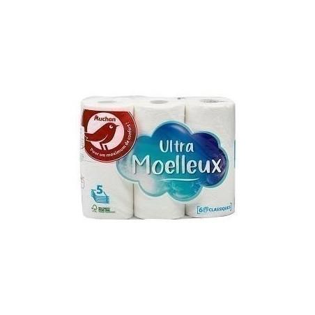 Auchan papier toilette blanc 5plis