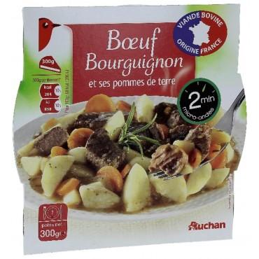 Auchan bœuf bourguignon 300g