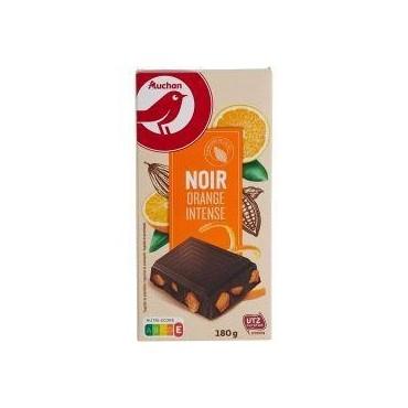 Auchan Choco Noir Orange 180G