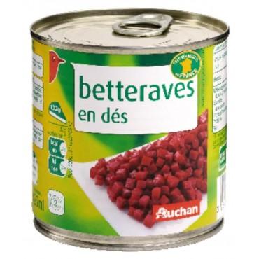 Auchan boîte de betteraves...