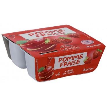 Auchan compote pomme/fraise...